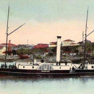 Заседание на министерския съвет с участието на княз Фердинанд на княжеската яхта в Русе,