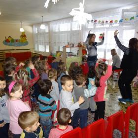 Снежко в детската градина