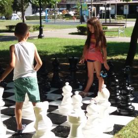 Шах и мат в градинката пред Библиотеката